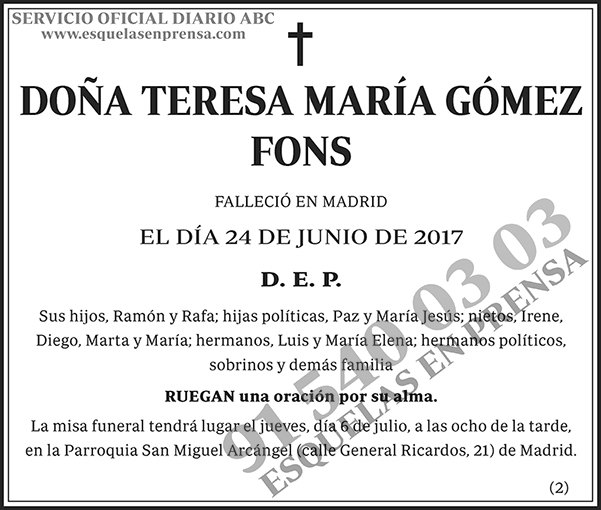 Teresa María Gómez Fons